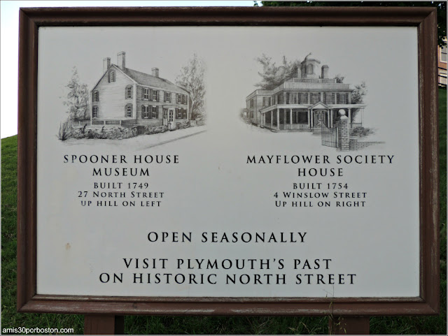 Spooner House y el Mayflower Society House