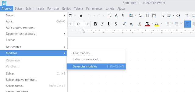Trabalhando com Templates no LibreOffice