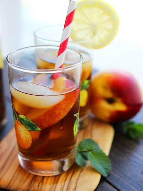 Peach ice tea - Ioanna's Notebook