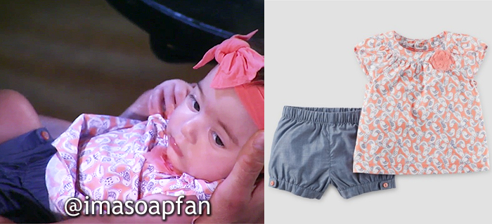 Scout Morgan, Pink Bird Print Baby Outfit, Carter's, General Hospital, GH