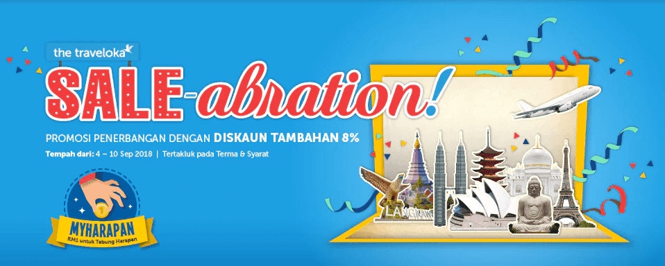 traveloka, saleabration, matta fair, 2018