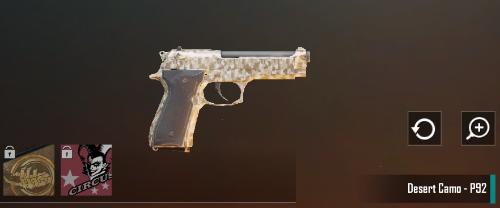 Cara Mendapatkan Skin Pistol P92 Desert Camo