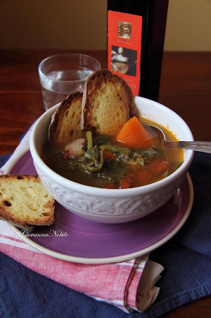 Zuppa con le erbette