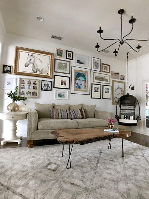 The Happy Homebodies: Bright Living Room Makeover with Huge Gallery Wall