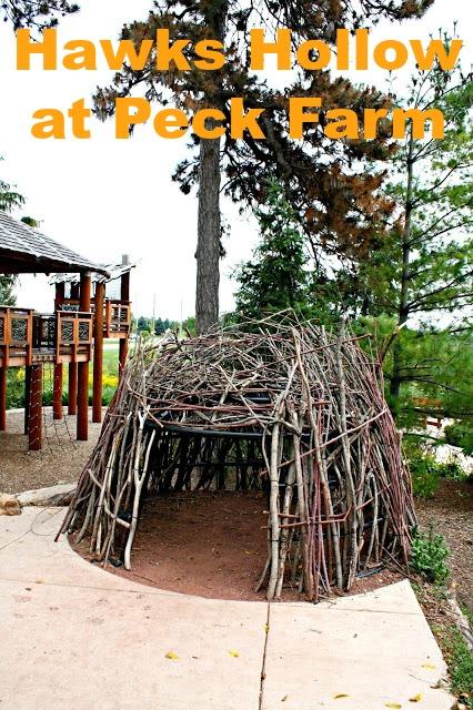 Hawks Hollow Nature Playground in Geneva, Illinois inspires nature exploration.