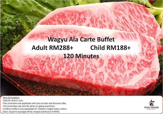 Yugo House Wagyu Beef Ala Carte Buffet Price