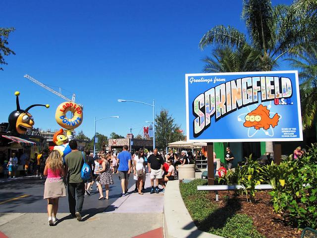 Springfield no Universal Studios em Orlando