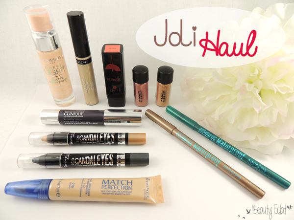 haul beaute laura mercier rimmel bourjois revlon clinique avril mac