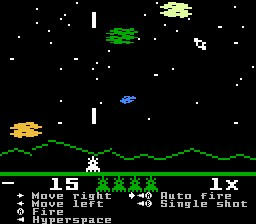 Screenshot of Astrosmash! (I4NES)