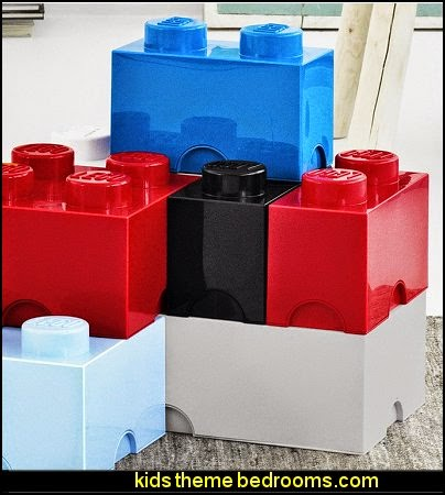 LEGO Storage  Lego wallpaper  Lego bedroom decor  Lego bedding