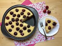 pastel de sémola y cerezas receta
