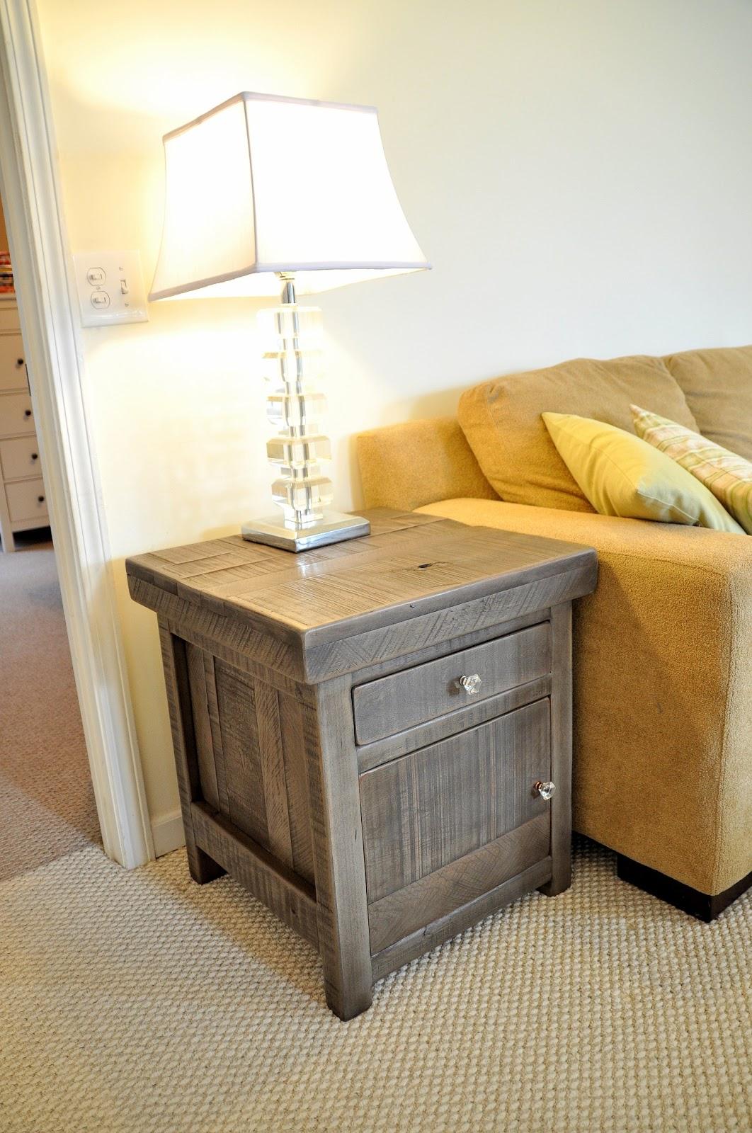 rustic gray sofa table rattan garden covers entertainment console buffet tv