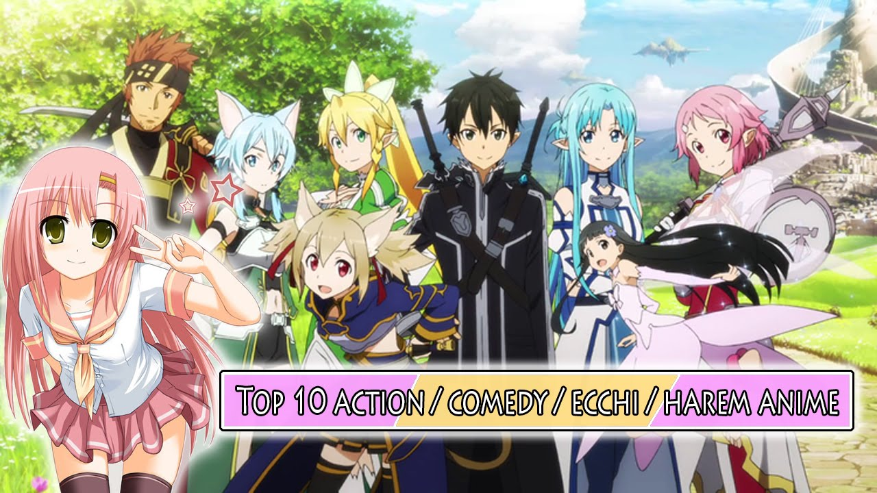 Top 10 Action Comedy Ecchi Harem Anime Highly Recommended