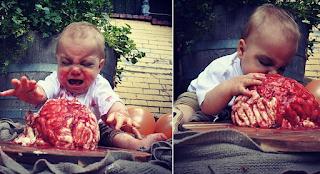 Μητέρα έφτιαξε την πιο φρικιαστική τούρτα «ανθρώπινο εγκέφαλο» για τα γενέθλια του γιου της