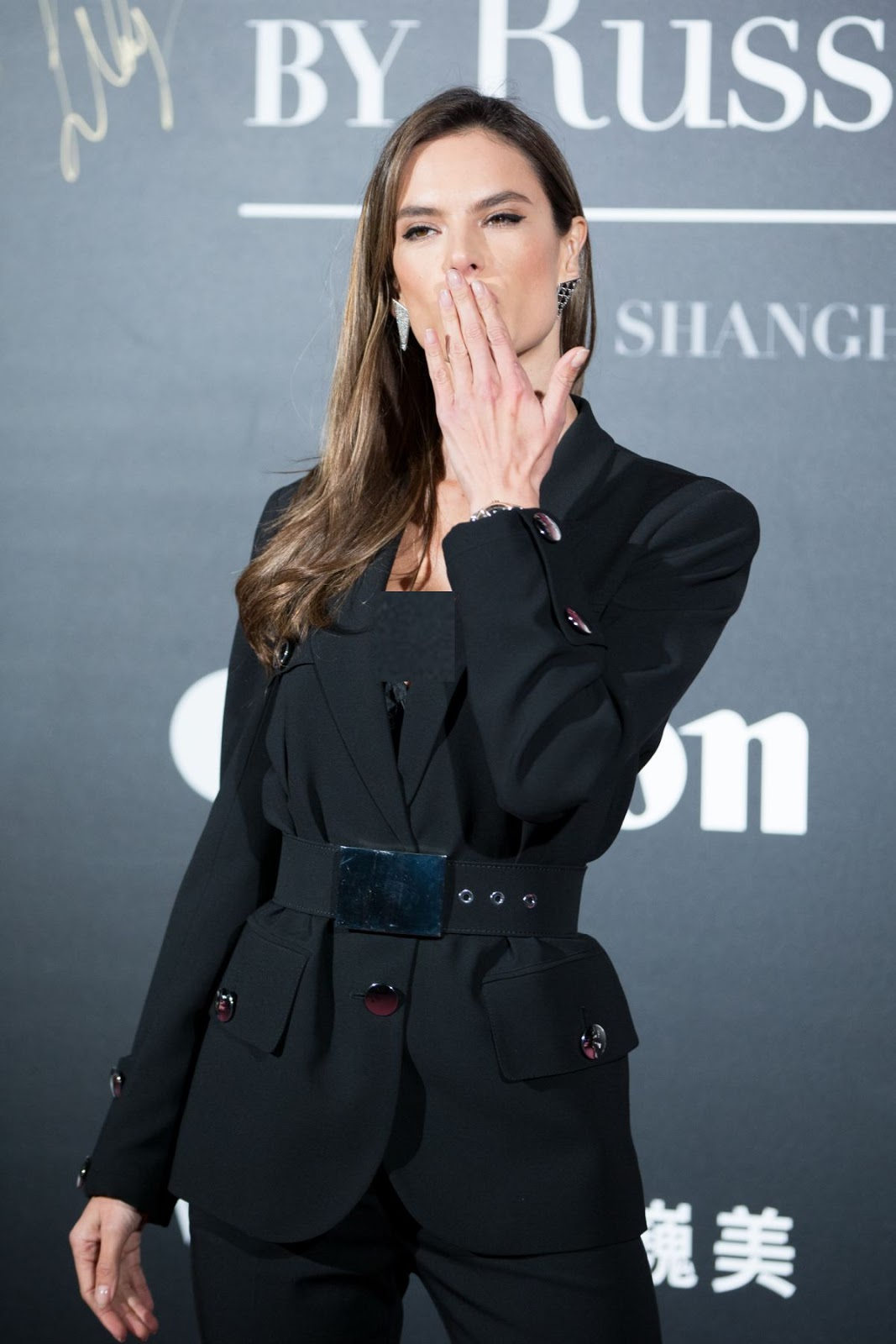 Alessandra Ambrosio at Mercedes-Benz Backstage Secrets by Russell James Book Launch and Shanghai Exhibition Opening Party