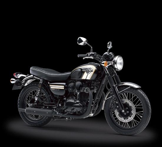 kawasaki w800 motor dengan desain retro