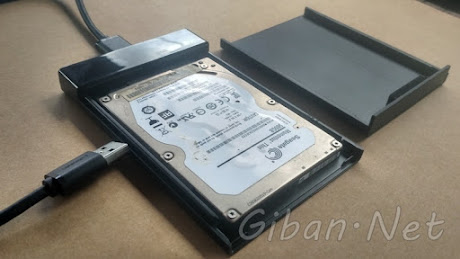 HDD Internal Laptop Jadi HDD External