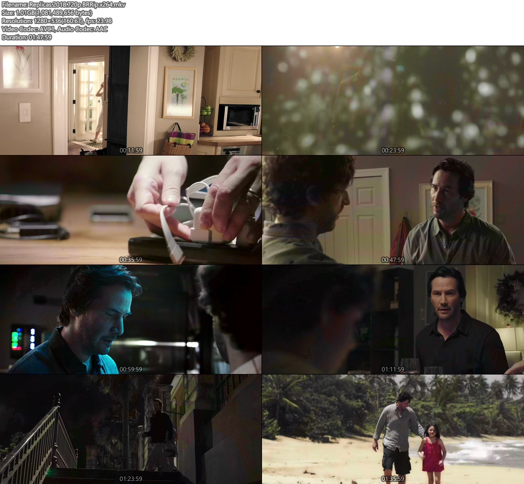 Replicas 2018 720p BRRip x264 | 480p 300MB | 100MB HEVC Screenshot