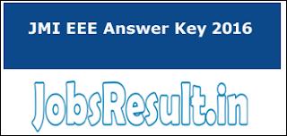 JMI EEE Answer Key 2016