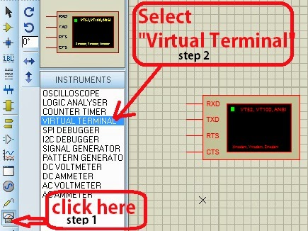 Virtual Terminal in proteus