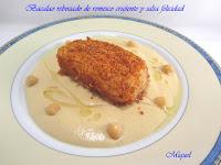 Bacalao rebozado en romesco crujiente y salsa Felicidad