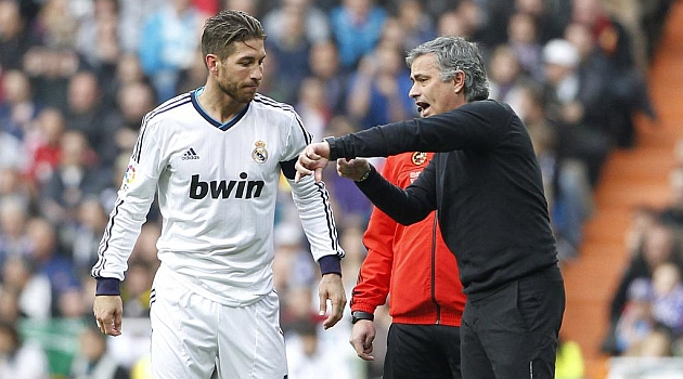 Sergio Ramos and Jose Mourinho at Real Madrid