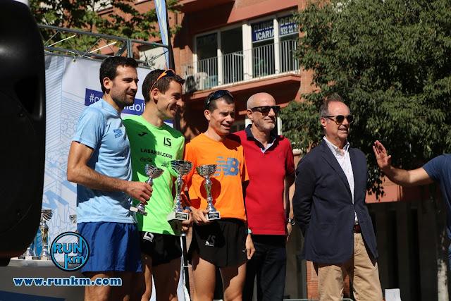 Podio Masculino 10K - Cursa Vila Olímpica 2017