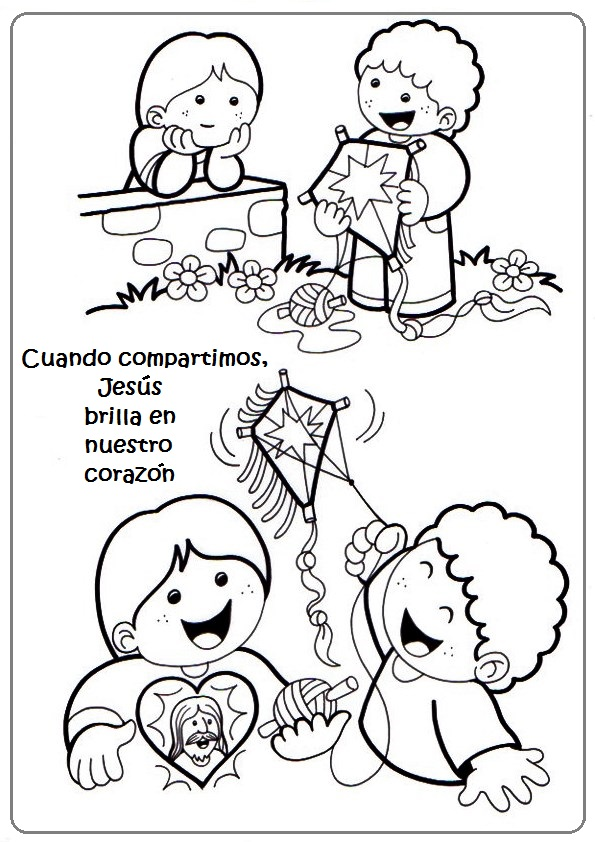 La Catequesis (El blog de Sandra): Viñetas para colorear