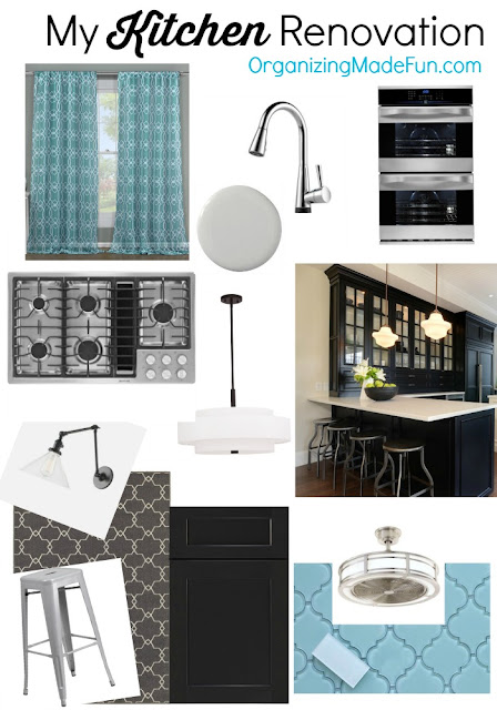 My Kitchen Renovation Mood Board :: OrganizingMadeFun.com