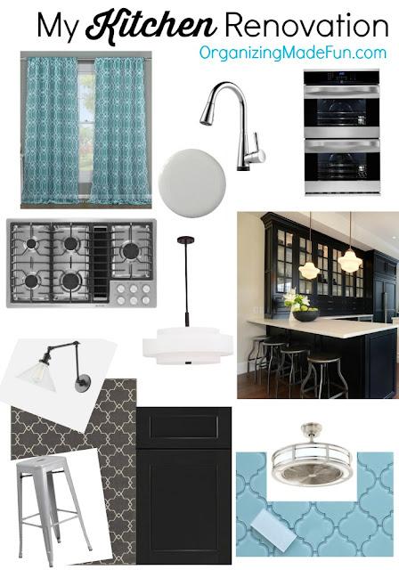 My Kitchen Renovation Mood Board :: OrganizingMadeFun.com