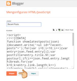 Artikel terbaru blogspot seo friendly tanpa tumbnail