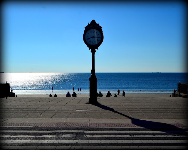 Revere Beach, Clock, Revere, Massachusetts, shadows