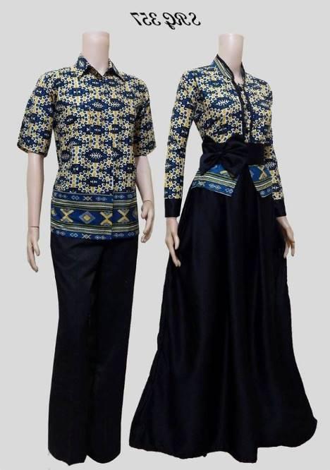model baju batik muslim couple modern