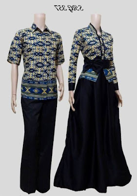 Model baju batik muslim couple modern