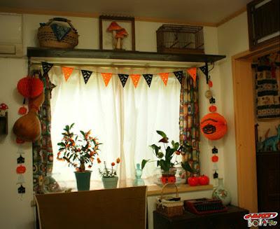 ハロウィン窓飾り