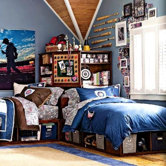 dormitorio tema béisbol