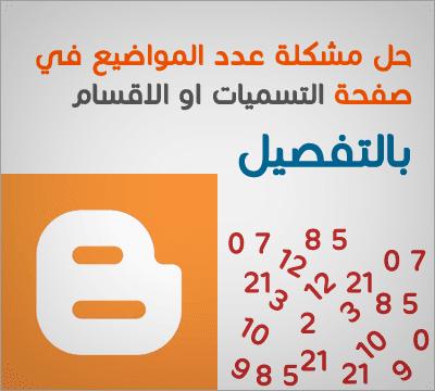 حل مشكلة نقص عدد المشاركات في بلوجر