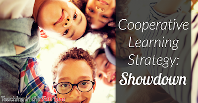 The Showdown cooperative learning strategy is a GREAT way to get students actively involved in content practice with very little prep from you!