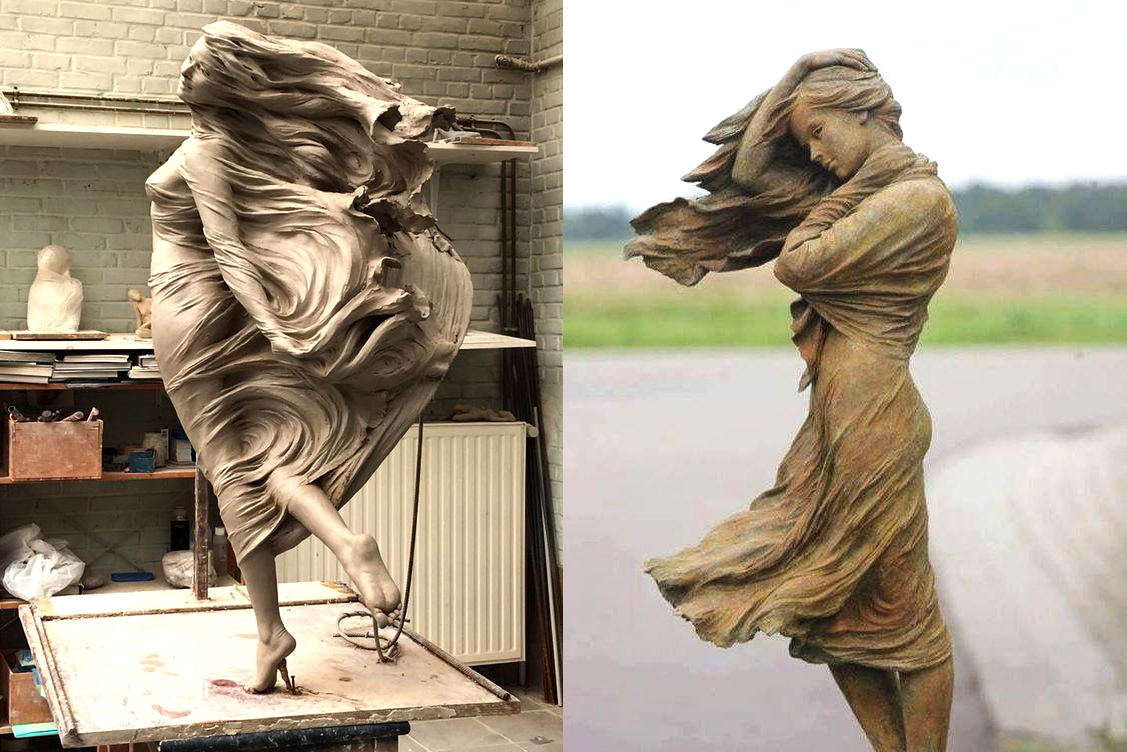 Wind Effect in Extra Realistic Sculptures its Amazing.