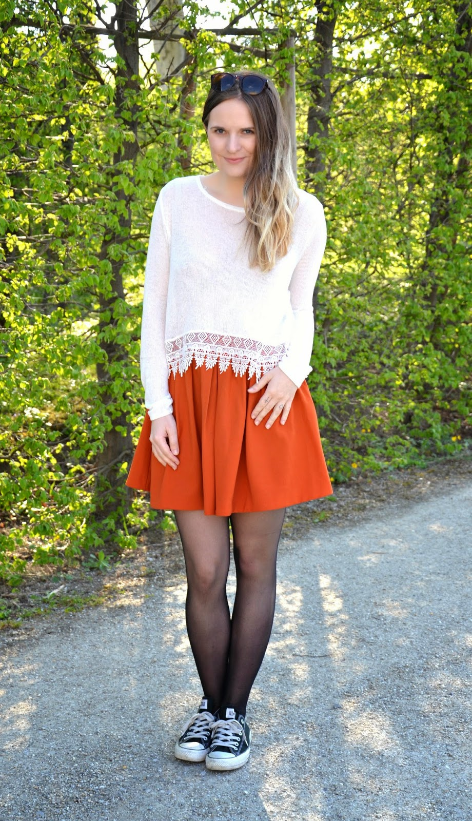 Stereotypically Me: Orange Skirt & Converse Chucks