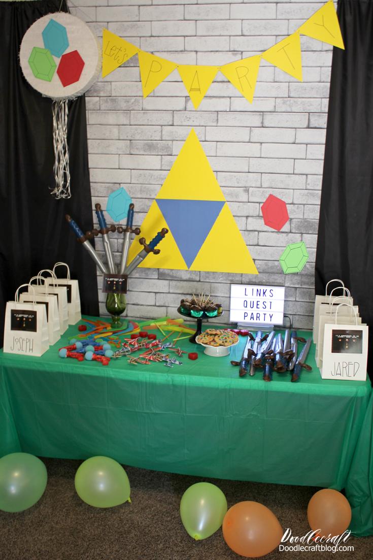 Legend Of Zelda Link S Quest Birthday Party
