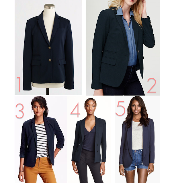 Back to School Teachers First Day Outfit Blue Navy Blazer