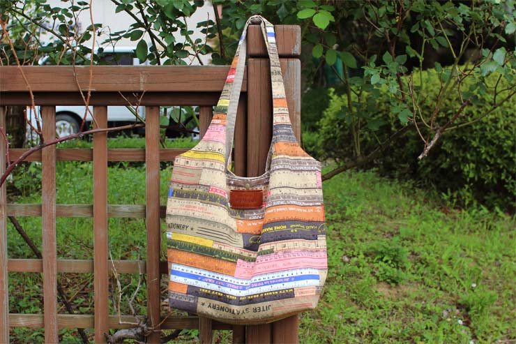Easy Fabric Hobo Tote Bag sewing pattern & tutorial