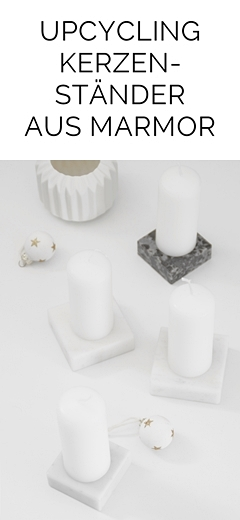 Marmor-Kerzenständer DIY Upcycling aus Pokalsockeln als minimalistische Kerzenständer und moderner Adventskranz   Tasteboykott