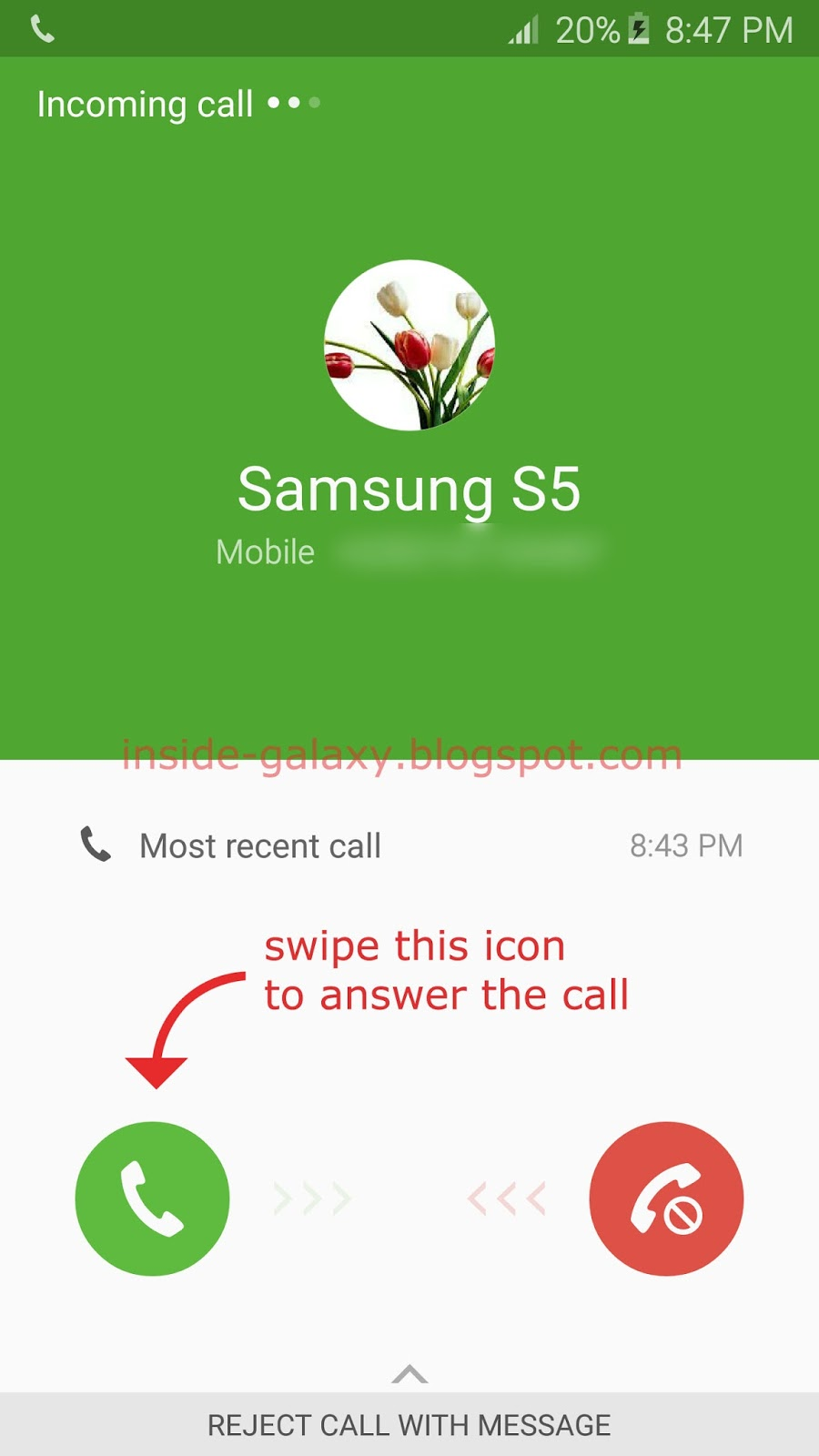 Samsung Galaxy S6 Edge: How to Answer Incoming Calls in