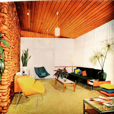 Photo of a mid-century modern lounge on display at The Moderns exhibition.