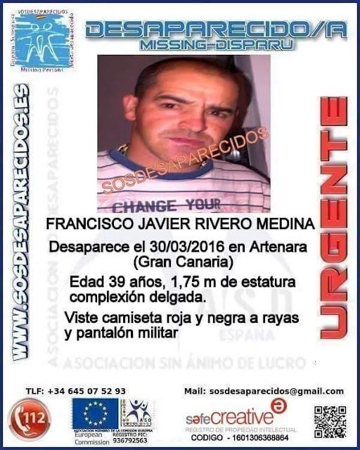 Un hombre, Francisco Javier Rivero Medina, desaparecido en Artenara, Gran Canaria