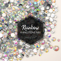 Rainbow Rhinestone Mix