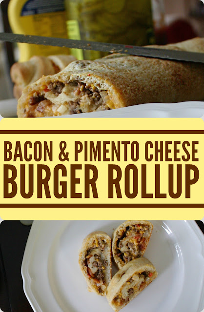 Bacon and Pimento Cheese Burger Rollup Recipe