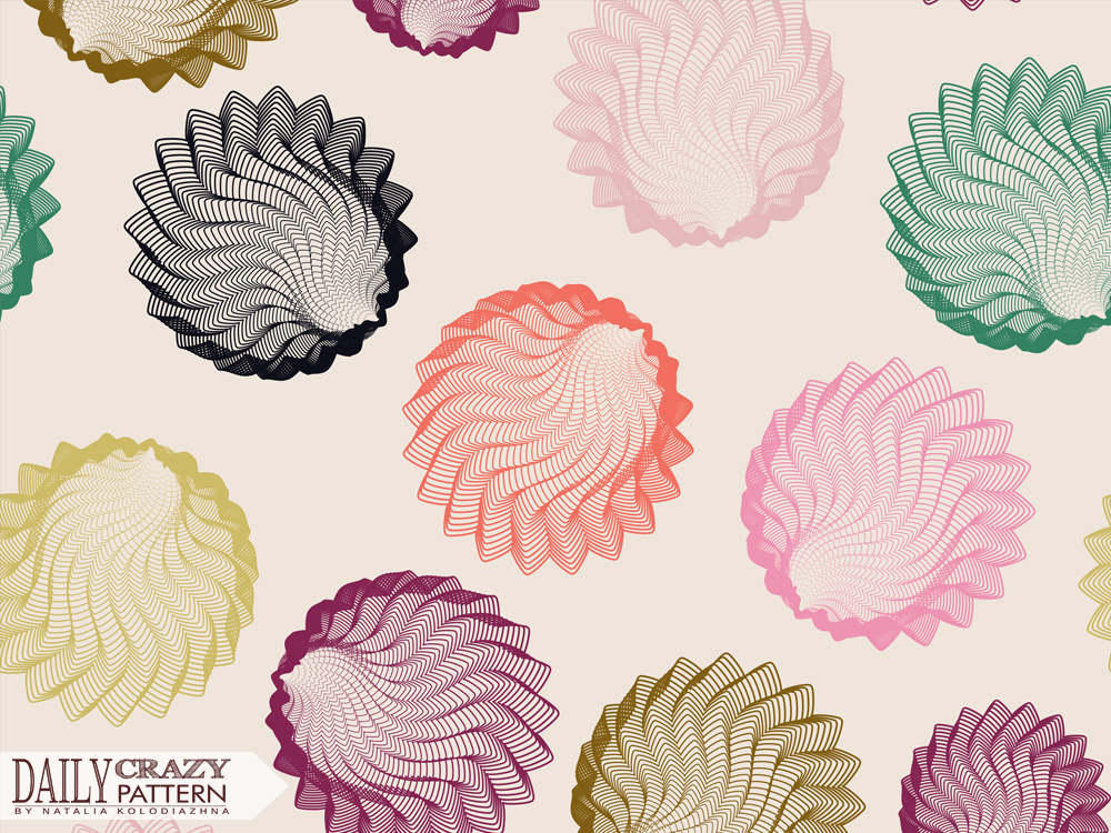 "Pretty nice geometric pattern for ""Daily Crazy Pattern"" project 